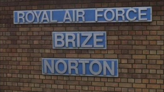 Sign at RAF Brize Norton