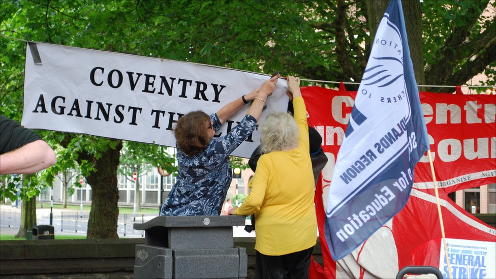Bbc News In Pictures Strike Rally In Coventry City Centre