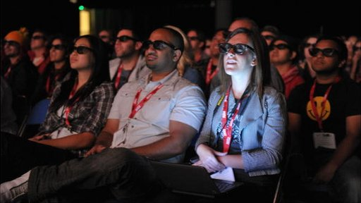 People at a 3D screening