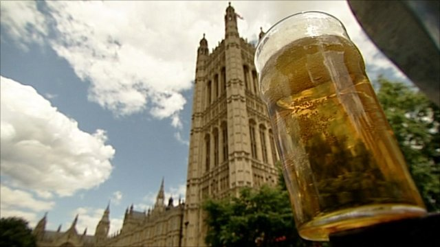 Westminster and pint