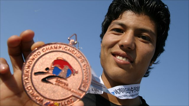 Rohullah Nikpai, taekwondo fighter from Afghanistan