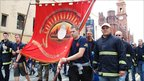 Firefighters in the Fire Brigades' Union join the protest