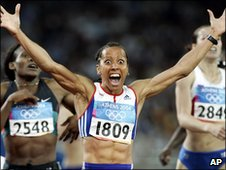 Kelly Holmes won gold in the 800m and 1500m in the 2004 Olympic Games