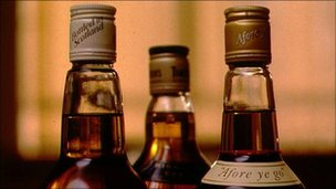 whisky bottles generic