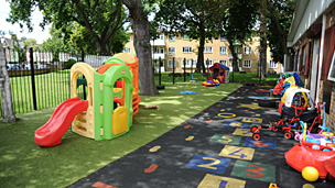 Nursery on the Weir Estate, Balham, south-west London