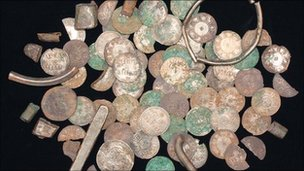 The hoard of Viking silver coins and artefacts