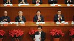 President Hu Jintao delivers the keynote speech in the Great Hall of the People in Beijing, 1 July