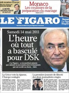 Front page of le Figaro, as reproduced by Le Monde, 1 July