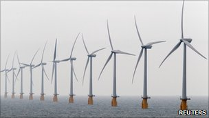 Wind farm off the coast of Kent