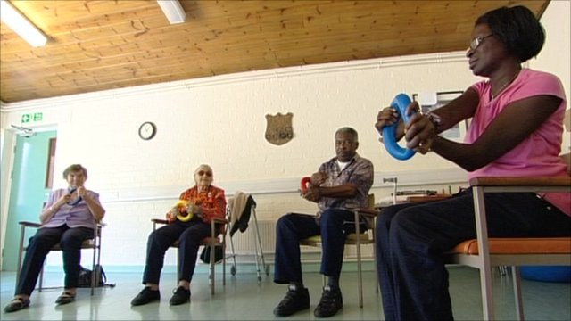 Exercise class for elderly