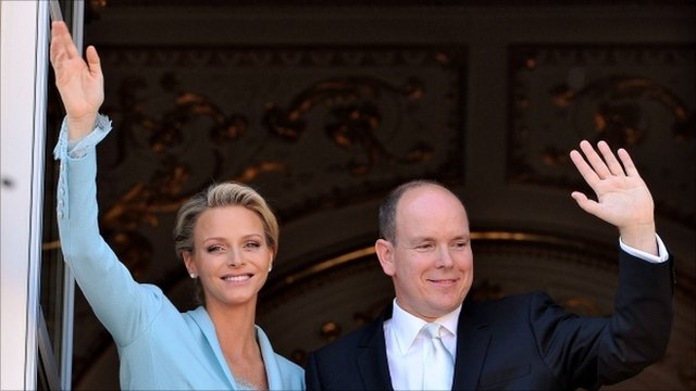 Prince Albert II and Charlene Wittstock