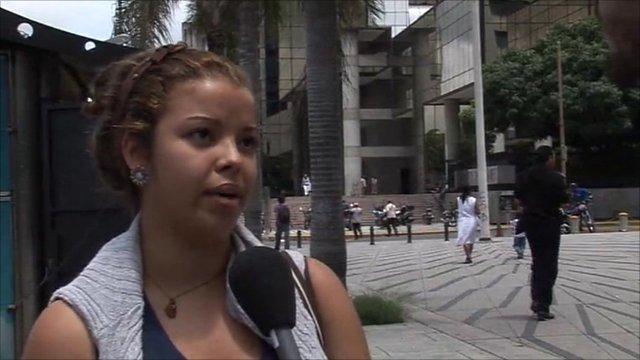 A Venezuelan woman talks about Chavez's health