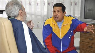 President Chavez and Cuba's Fidel Castro