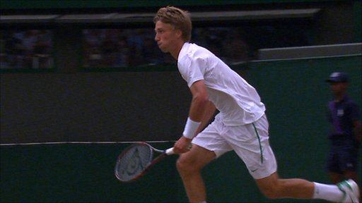 Liam Broady chases in vain