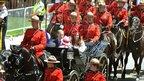 The Duke and Duchess of Cambridge travel by horse drawn landau to Parliament Hill in Ottawa