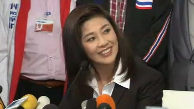 Pheu Thai party leader Yingluck Shinawatra