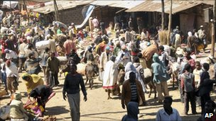 A market in Ethiopia