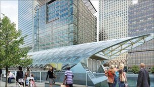 Canary Wharf Crossrail station