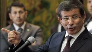 Turkish Foreign Minister Ahmet Davutoglu, Benghazi (3 July 2011)