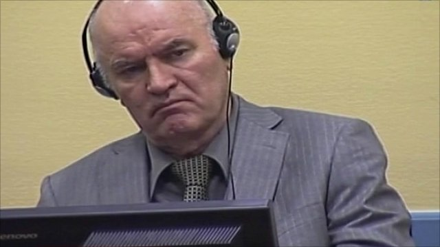 Ratko Mladic in court at The Hague in June