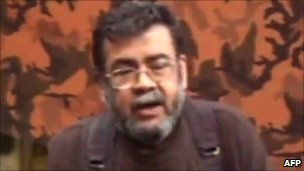 Grab from video message from Alfonso Cano (30 July 2010)