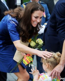 The Duchess of Cambridge and Raffaela Cheater