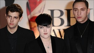 The xx at the Brits awards in February 2011