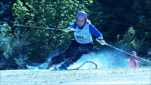 Alex Bullock on Pontypool Ski Slope