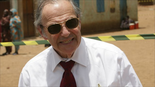 US special envoy to Sudan, Princeton Lyman, arrives to observe the gubernatorial and legislative elections being held in Kadugli, South Kordofan on 2 May, 2011