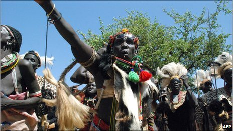 Southern Sudanese from the Toposa ethnic group celebrate the choice of separation from the north (archive photo)