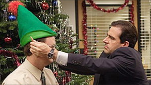 Steve Carrell (r) in The US Office