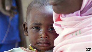 Child in Darfur refugee camp