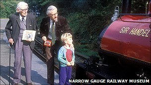 WV Awdry, his son Christopher and grandson Richard