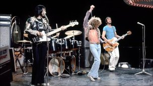 The Who performing on Top of the Pops in 1973