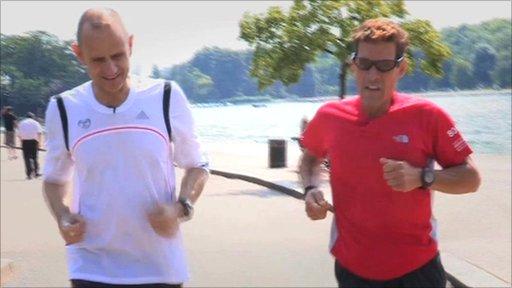 Evan running