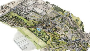Artist impression of the Heartlands project