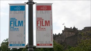 Edinburgh International Film Festival banners