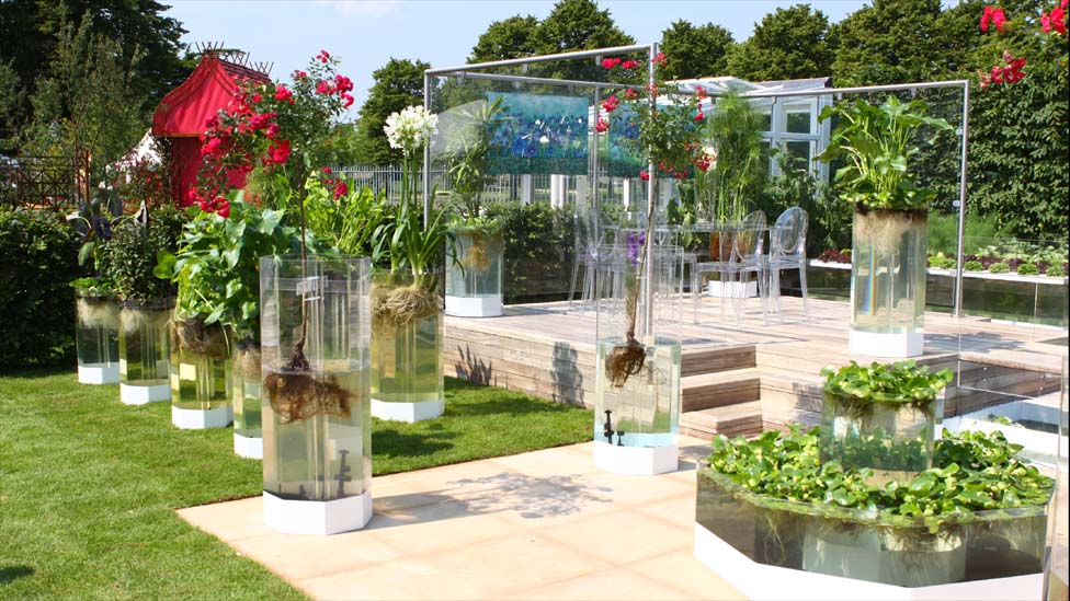Bbc News In Pictures Naked Garden Wins At Hampton Court