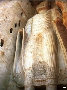 File photograph from 1997 of Buddha statue in Bamiyan, Afghanistan