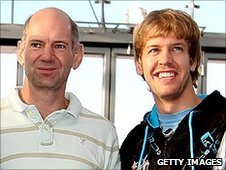 Adrian Newey and Sebastian Vettel