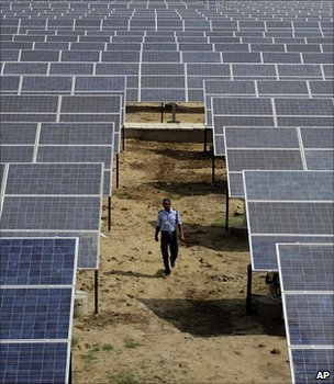 Solar power station, India (Image: AP)