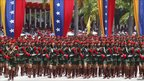 Venezuelan soldiers in independence day parade - 5 July 2011