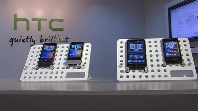HTYC smartphones and tablet computers on display
