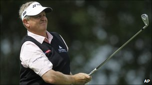 Scottish golf legend Colin Montgomerie