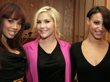 Amelle, Heidi and Jade from the Sugababes