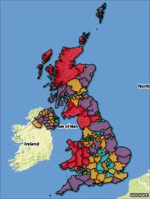 Ofcom broadband map