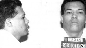 1995 booking photo courtesy of the Texas Department of Criminal Justice shows Humberto Leal Garcia