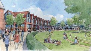 Artist's impression of Wokingham regeneration