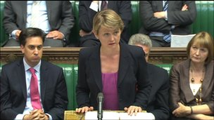 Ed Miliband, Yvette Cooper and Harriet Harman