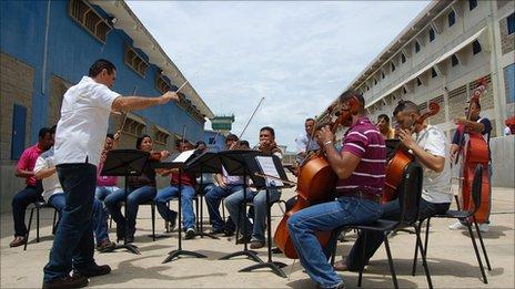 The prison orchestra at Venezuela's Coro prison